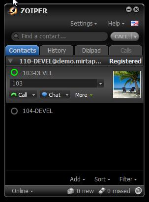 Configuring Zoiper to use chat - MiRTA PBX documentation